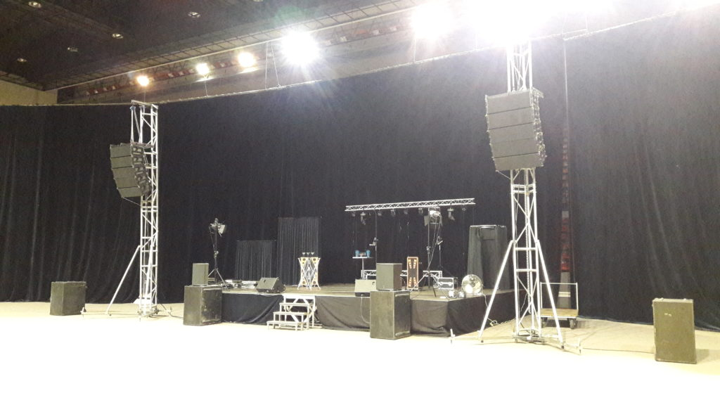 line array sonorisation spectacle salle Lauga Bayonne