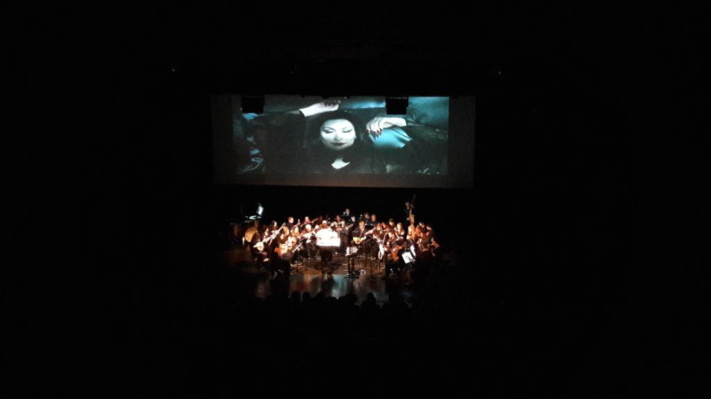 Concert estudiantina Larreko vidéoprojection films écran