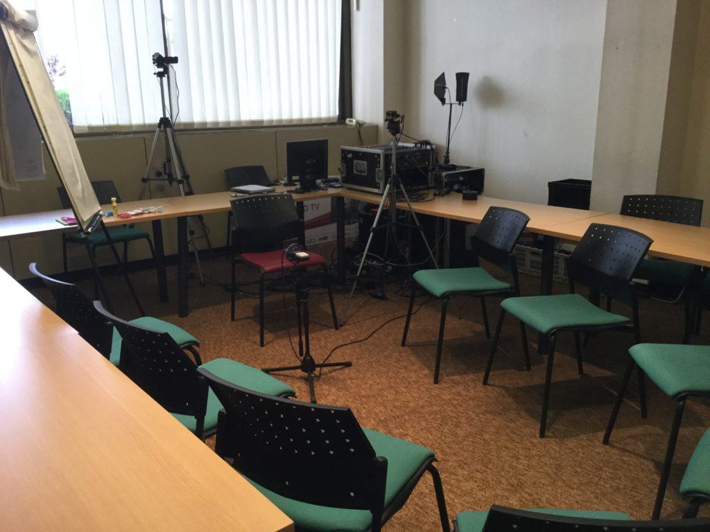 prise son et vidéo sondage Ametzondo à la CCI Bayonne par DCI Event