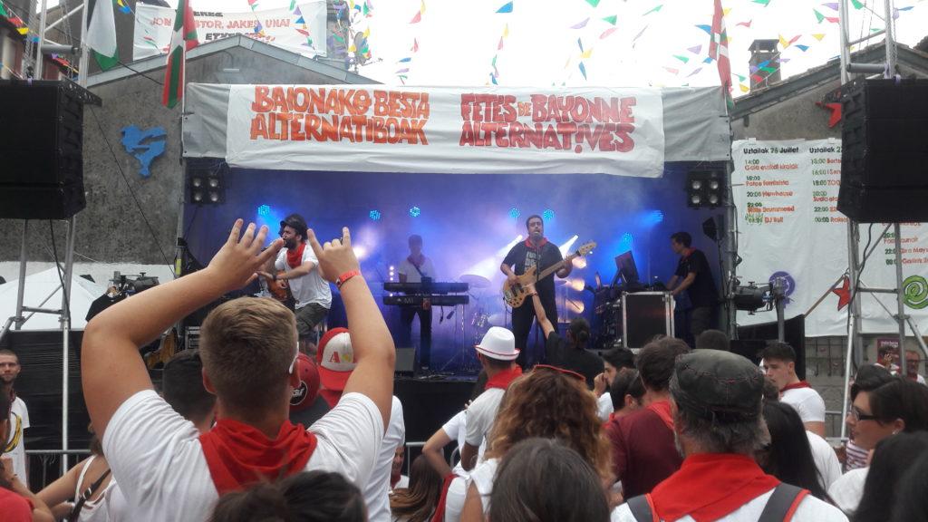 sonorisation éclairage concert fêtes de bayonne